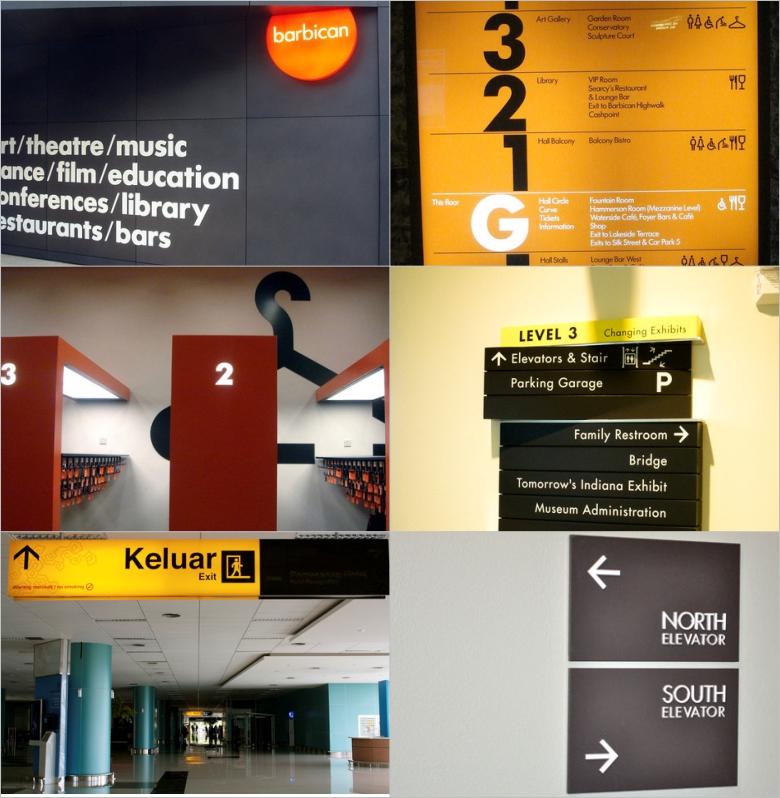 Signage wayfinding design inspiration voices inside my for Exterior signage design